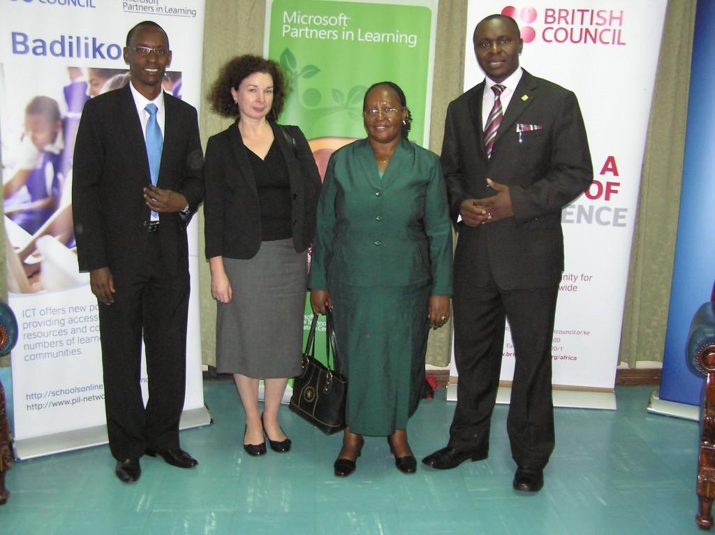 British Council Microsoft and TCS Team for Badiliko